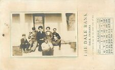 Family Photograph Pasted Over Dale Bank Calendar Ad, Dale In Indiana 1910 Rppc