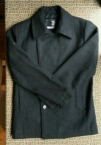 INDUSTRIE MENS WOOL MIX COAT SIZE M