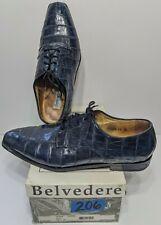Belvedere Florence Urine Navy Genuine Ostrich Dress Shoes Size 15 M