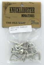 Knuckleduster OW28-102 Cowboys (The Old West) Gunslingers Outlaws MIniatures