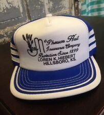 Vintage Insurance Hat Snap back Hillsboro Kansas Truckers Mesh