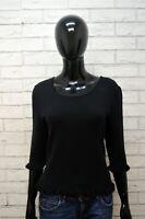 MOSCHINO Donna M Maglia Lana Maglione Nero Pullover Sweater Cardigan Woman Slim