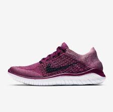Nike Free Flyknit RN 2018 малиновый белый 942839-600 женские беговые кроссовки, новые!