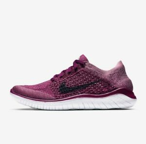 Nike Free RN Flyknit 2018 Raspberry White 942839-600 Women's Running Shoes NEW!