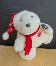 Plush Stuffed MUSICAL ANIMATED COCA-COLA POLAR BEAR Twirls 'Teach World to Sing'