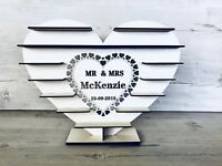 "Personalised ""Mr & Mrs"" - Ferrero Rocher Tree WHITE MDF  Wedding Stand"