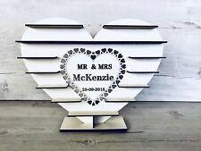 "Personalised ""Mr & Mrs"" - Ferrero Rocher Tree WHITE MDF  Wedding Stand"