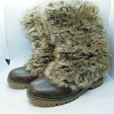 WANTED Womens Boots Pinnacle Faux Fur Size 8