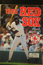 LOT OF 2 1986 3nd EDITION RED SOX PROGRAMS DH 10/4 NY YANKEES RECORD SET