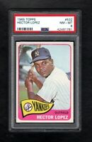 1965 TOPPS #532 HECTOR LOPEZ YANKEES PSA 8 NM/MT++SHARP CARD!