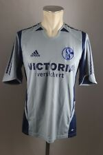 Schalke 04 Trikot Gr. S Adidas 2005-06 Victoria versichert Away blau grau