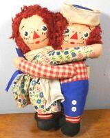 "Vintage Knickerbocker Raggedy Ann Andy Cloth Dolls 7"" 1967 Toys Nostalgia"