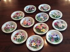 Complete Set (12) Lena Liu Bradford Exchange Beautiful Gardens Collector Plates