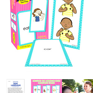 Carson Dellosa American Sign Language Flash Cards—Double-Sided, 122 ASL Signs...