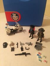Playmobil 5891 Cop Police Thief Guns Weapons Bike Radio Extras Case