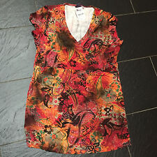 MISS ETAM MULTICOLOURED ABRICOT TUNIC TOP SIZE 16/18 BRAND NEW £29.95