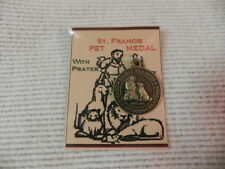 SAINT ST FRANCIS DOG COLLAR TAG pet MEDAL WITH PRAYER Gift Packaged new QUALITY