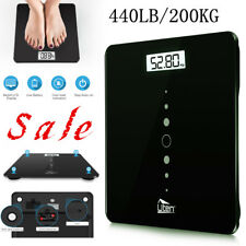 Electronic Bathroom Scale Toughened Glass Body Measures Weights 200kg Weighing