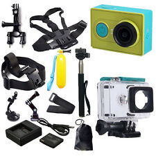Original XiaoMi Yi WIFI Sports Action Cam+Accessories Kit+Charger+Battery UK GM