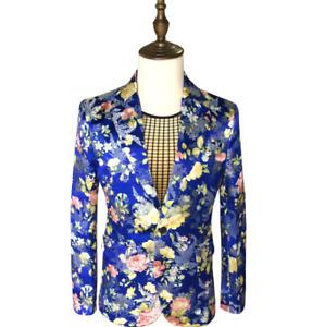 Mens New Wedding Business Formal Suits Floral Best Man Handsome Slim Fit 3Color