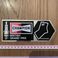F1 Grand Prix 1970 1980 team sponsor sticker Champion Spark Plugs British GP