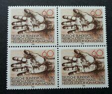 Germany Birth Bicentenary Of Friedrich Joseph Haas 1980 Hand (stamp blk of 4 Mnh
