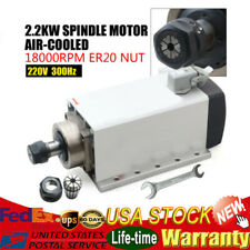 22kw Air Cooled Ac Spindle Motor Er30 220v 18000rpm Woodworking Cnc Router