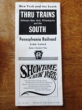 October 1966 Pennsylvania Railroad Train Timetable Booklet New York South EST