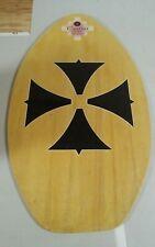 Tribal Surf Skim Boards Iron Cross Design Wood Board Vintage Mancave Decor