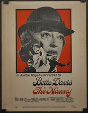 "THE NANNY 1965 ORIGINAL WC MOVIE POSTER 14X18 ""TRIMMED""  BETTE DAVIS WENDY CRAIG"