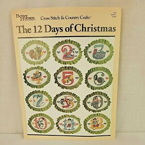 The 12 Days of Christmas Better Homes & Gardens Cross Stitch Pattern #57 Booklet