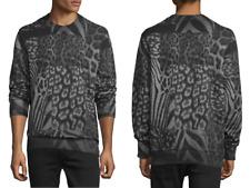 "DIESEL ""S-Joe-AR"" Cotton Blend Animal Print Sweatshirts size S NEW NWT $178"