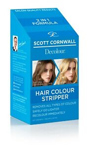 Decolour Hair Colour Stripper, Removes both natural and artificial pigment