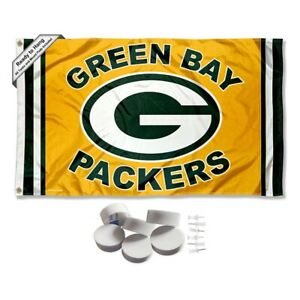 Green Bay Packers Gold Large Logo Tapestry Banner