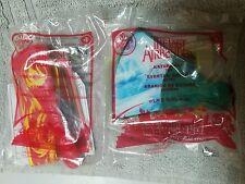 2010 The Last Airbender McDonalds Fire Nation Ribbon Baton #4 & Katara fan #3