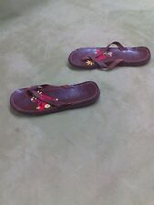 Roxy Women's Cabo brown Sandals size 7 . leather