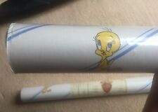 TWEETY BIRD Looney Tunes Wallpaper Pre-pasted-strippable-scrubbable 2 Rolls-Rare