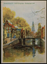 Esperanto – PK 21a Kongreso de SAT Amsterdam 1948 – Groenburgwal met Zuiderkerk