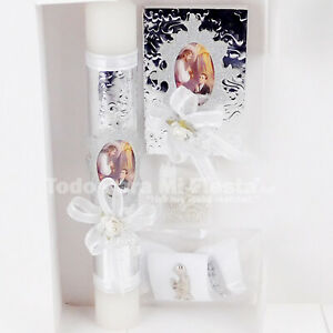 First Communion Candle Set Favor Boy Set Con Vela Primera Comunion Nino