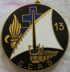 IN14426 - INSIGNE 13° D.B.L.E, C.C.A.S, dos lisse