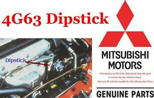 1995 1999 Mitsubishi Eclipse Eagle Talon 4g63 2.0 Turbo Oil Dipstick New OEM