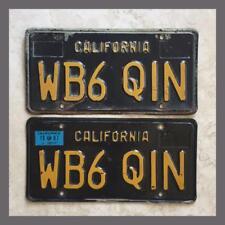 1963 California HAM RADIO License Plates Pair Original Vintage Collector 1967