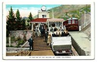 At the Top of the Incline, Mt. Lowe, CA Postcard *5Q11