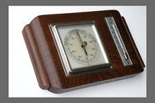 Lufft barómetro termómetro madera cromo art deco Bauhaus