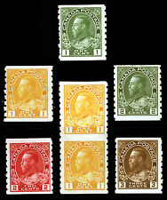 Canada #125-#129 1c-3c 1912-24 King George V Perf 8 Coils Mint & MLH 6 items