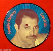 """FREDDIE MERCURY (QUEEN) - Love Kills - Rare Original UK 7"""" Picture Disc"""