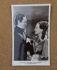 Franchot Tone & Joan Crawford film star Real Photograph Postcard FS63 xc2
