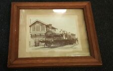 More details for original late 19th / early 20th c locomotive photograph mounted with frame