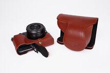 Genuine Real Leather Full Camera Case Bag Cover for Panasonic GX85 GX80 GX7 II
