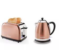 Élégant Moderne Cuivre 1.8 L Bouilloire électrique et Grille-Pain 2 Fentes Petit Déjeuner Set